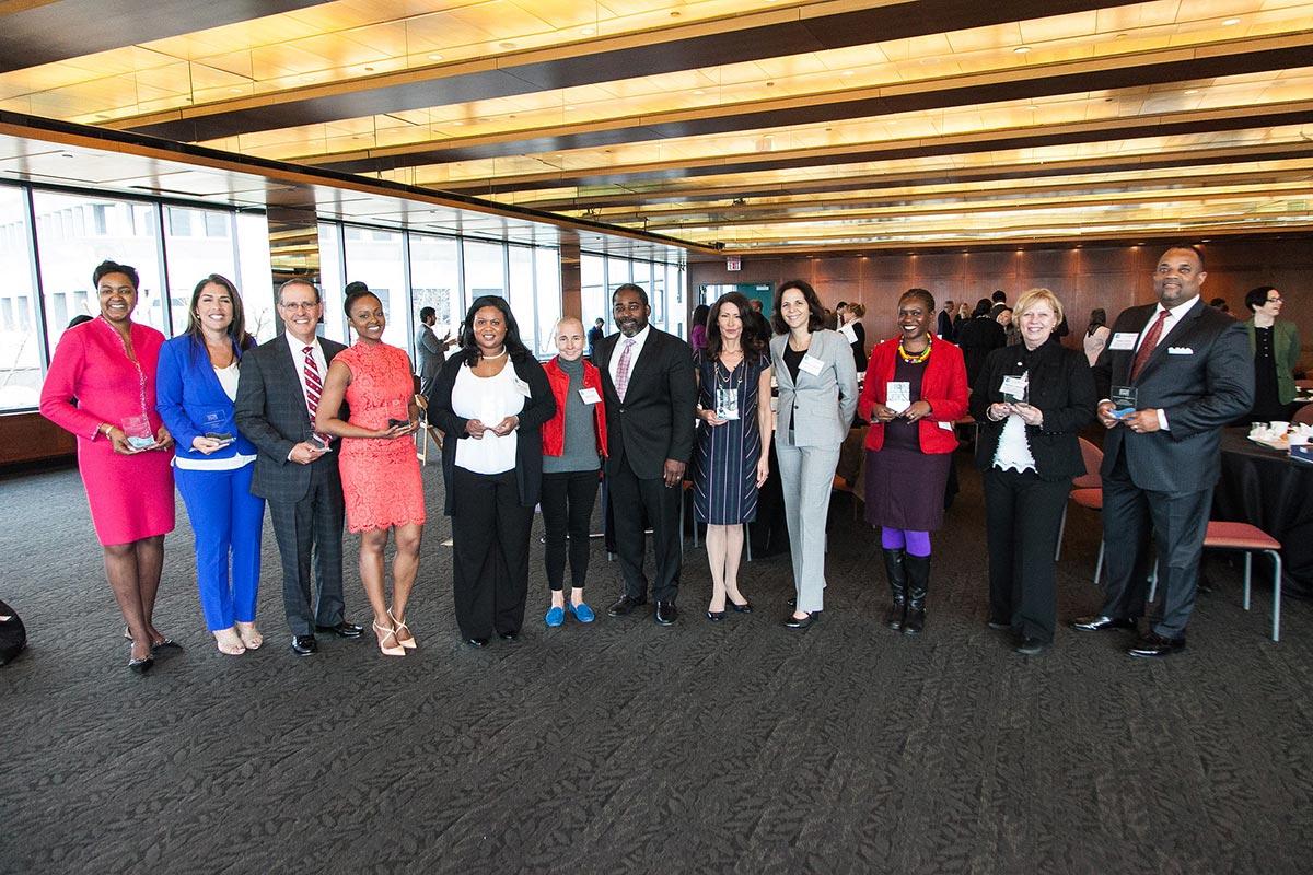 Woodley receives diversity award