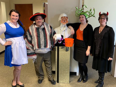 The SRC team in the Halloween holiday spirit!