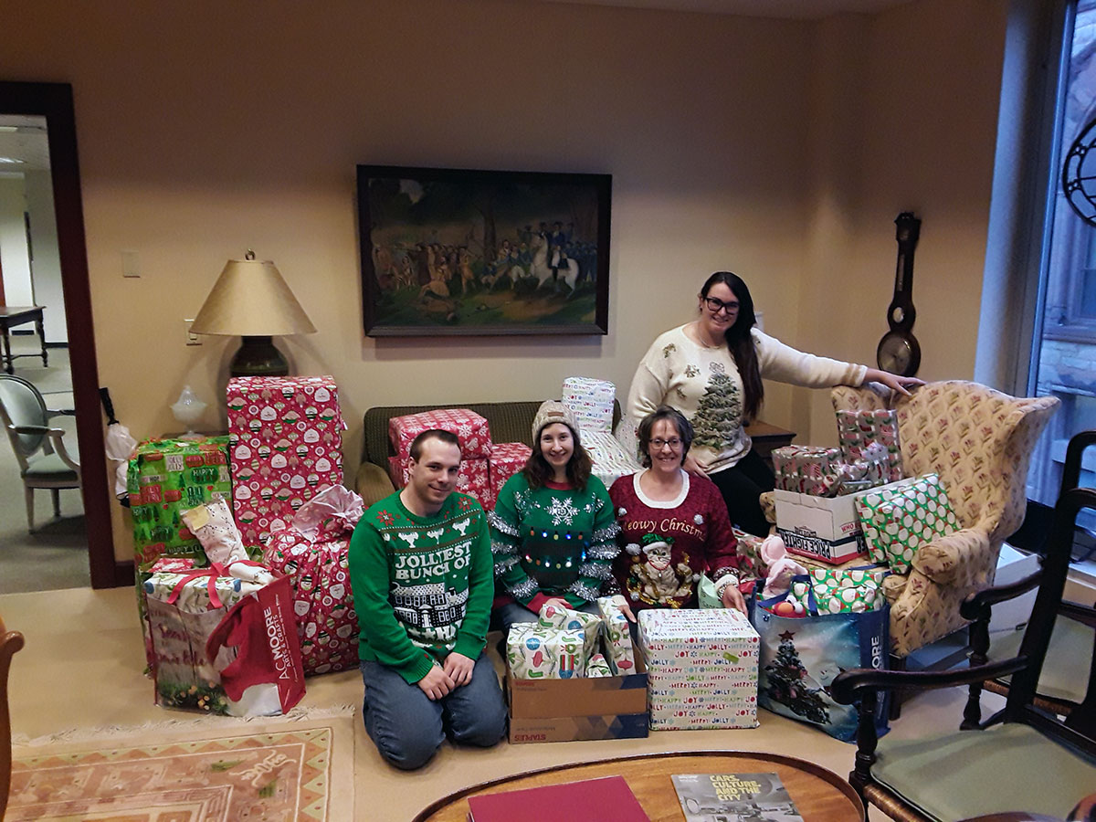SRC participated for the second straight year in Albany County's Adopt-A-Family Program