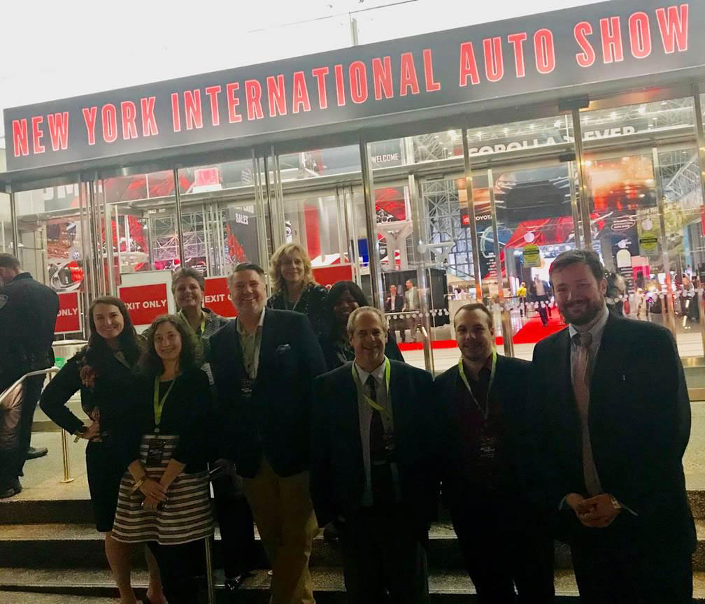 SRC team on site at the New York International Auto Show in New York City