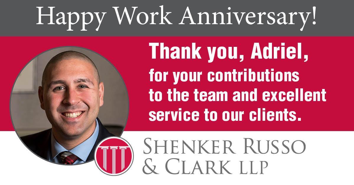 Happy Anniversary Adriel!