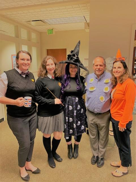 SRC team dressed up in Halloween costumes