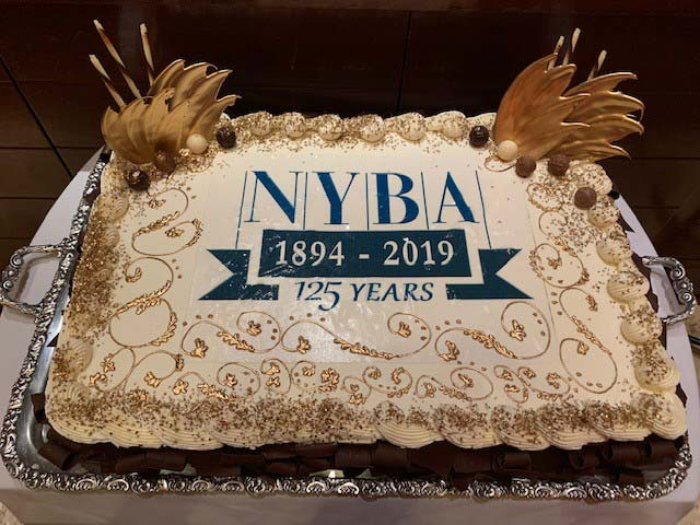 Cake celebrating NYBA's 2019 Financial Services Forum